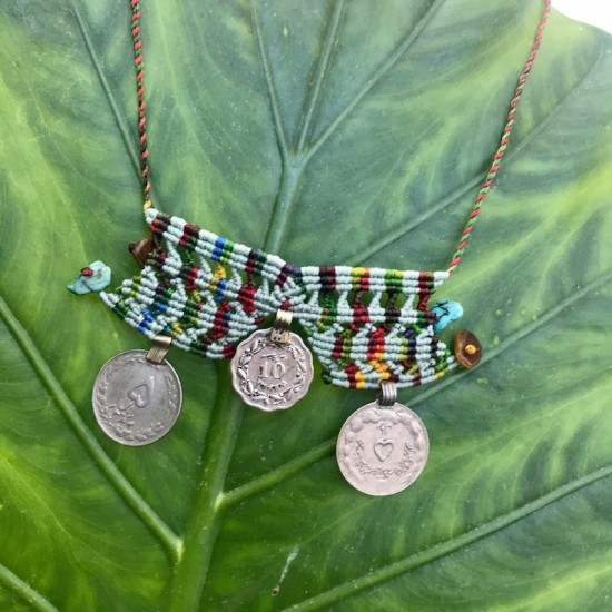 Boho Necklace with Coins