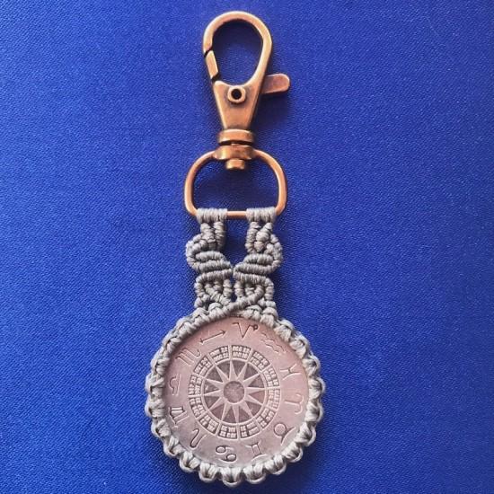 Capricorn Macrame Keychain